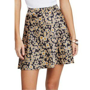 Free People 4 Black Yellow Daisy Skirt NWT AI52